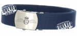Military Style Webbing Belt and buckle (NAVY BLUE) ~OFFICIAL LICENCED PRODUCT